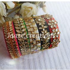 How to buy this Silk Thread Bangles Design, Thread Jewellery, Jewellery Diy, India Jewelry, Kundan Bangles, Silk Bangles, Beaded Necklace Patterns, Jewelry Patterns, Hand Work Embroidery