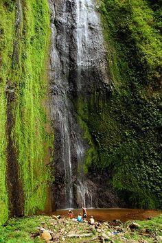 The San Ramon Waterfall flows near the foot of the Maderas Volcano, on Ometepe Island, Nicaragua.