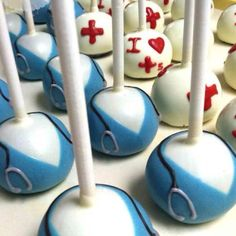 Nurse cake pops