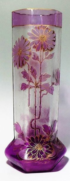 Rare Josef Riedel 1900 Paris Exhibition Cameo Glass Vase Here's a beautiful Art Nouveau / Jugendstil cameo etched glass vase from Josef Riedel of Polaun (Bohemia)