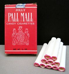 Candy cigarettes.  No wonder so many kids back then started smoking at such a young age.