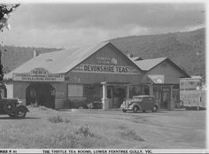 The Thistle Tea Rooms,Lower Ferntree Gully Melbourne Victoria, Historical Pictures, Vintage Photographs, Old Photos, Australia, Cabin, History, Country, House Styles