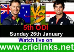 Sunday 26th ,January 5th & Final ODI between AUS vs England will be played at Adelaide...Aus already win & lead the seris by 3-1..so eng cant win the seris but they want to finish on high..Match will be start 8.20 AM PST.8.50 AM IST.,watch live action only on http://www.criclinks.net/ #AusvsEng
