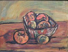 小西安夫「静物」(1956年) 6号 油絵