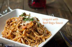 Linguini with Beef Ragu Sauce @Dinnersdishesdessert