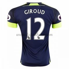 Billige Fodboldtrøjer Arsenal 2016-17 Giroud 12 Kortærmet Tredjetrøje