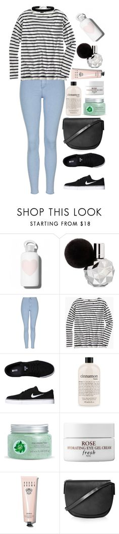 """""""// Back with the stripe."""" by krys-imvu ❤ liked on Polyvore featuring bkr, Topshop, J.Crew, NIKE, philosophy, Fuji, Fresh, Bobbi Brown Cosmetics and Miss Selfridge"""