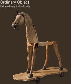 pull toy horse.  I bought one like this a long time ago and made him a body and covered it in burlap, came out nice.