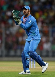 Mahendra Singh Dhoni of India during the ICC World Cup warm up match between India and South Africa at Wankhede Stadium on March 2016 in Mumbai, India. India Cricket Team, World Cricket, Cricket Sport, Icc Cricket, Ms Doni, Freedom Fighters Of India, Cricket Poster, Dhoni Quotes, Ms Dhoni Wallpapers