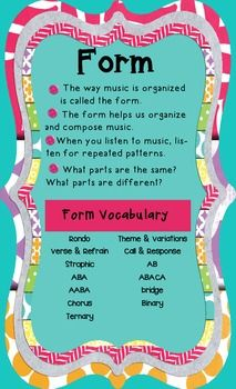 Elements of Music - Form Poster (Color)