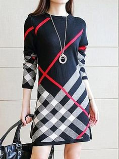Round Neck Printed Cotton Blend Shift Dress - Look Fashion Cute Dresses, Casual Dresses, Dresses Dresses, Trendy Dresses, Cheap Dresses Online, Dress Online, Mini Robes, Fashion Outfits, Womens Fashion