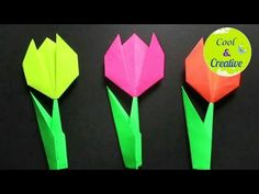 Paper flower!! How to make simple paper flower |paper tulip -DIY  #PAPER #FLOWER #ORIGAMI #EASYCRAFT #CRAFT #IDEA