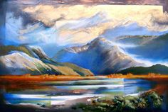Mt Aspiring and Matukituki Valley by Harold Coop for Sale - New Zealand Art Prints
