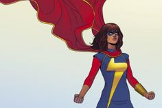 Marvel: The newest incarnation of Ms. Marvel as Kamala Khan, a teenager from New Jersey, is one of the best-selling comics of the year. Plus it's a chance to wear a leotard with a giant lightning bolt on it. Marvel X, Captain Marvel, Marvel Logo, Marvel Characters, Female Characters, Ms Marvel Kamala Khan, Dc Comics, Marvel Tattoos, Marvel Costumes
