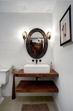 Powder Room Design, Mirror, Bathroom, Living, Inspiration, Furniture, Farmhouse, Home Decor, Ideas