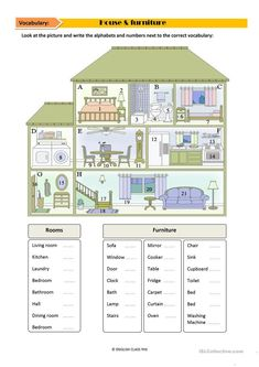 10 Vocabulary Worksheets House Vocabulary Worksheet Free Esl Printable Worksheets The youngsters can enjoy Number Worksheets, Math Worksheets, Alphabet Worksheets. Kids English, English House, English Lessons, Learn English, House Vocabulary, Vocabulary Worksheets, Homeschool Worksheets, Printable Worksheets, Number Worksheets
