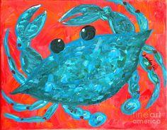 crazy blue crab art.  love this.