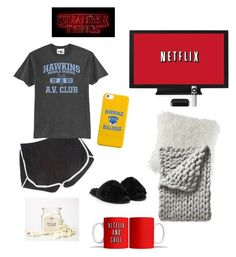 """""""Netflix & chill♥️🍿"""" by perlchenmerlchen ❤ liked on Polyvore featuring interior, interiors, interior design, home, home decor, interior decorating, Duffer, Nasty Gal, BCBGeneration and Serena & Lily"""
