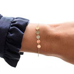 Essentielle Gold Hexagons Chain Bracelet