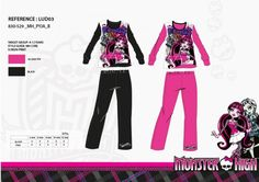 L ensemble pyjama Long Monster High ref 199