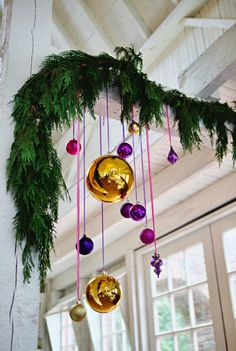 garland + ornaments