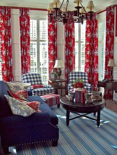 1000 Ideas About Red And White Curtains On Pinterest
