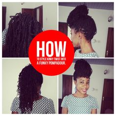 I love #kinkytwists and I made a fabulous reverse pompadour which gets people wondering how I made it. Here's how. #braidstutorial