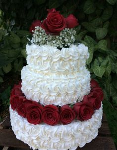 Wedding cakes have become an important decoration at wedding event locations where visitors still excite themselves over how magnificent the wedding event cake is. Wedding Cake Red, Fall Wedding Cakes, Beautiful Wedding Cakes, Gorgeous Cakes, Wedding Cake Designs, Pretty Cakes, Cute Cakes, Wedding Cake Toppers, Dress Cake