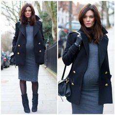 мода для беременных зима 2017