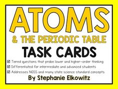 Periodic table task cards color and bw atomic number periodic atoms task cards differentiated and tiered group periodic tableatomic numbertask urtaz Images