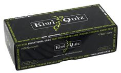 Kiwi Quiz is an educational game that challenges and teaches general knowledge about New Zealand.Set comprises of 400 quiz cards covering  topics of History, Geography, Famous People, Art, Sports Music, and many more Kiwi facts.