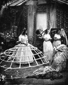 The hoops used to support the crinoline dress during Victorian times. Photo: London Stereoscopic Company, Getty Images / Hulton Archive