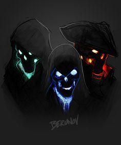 Left to Right: Edward, Connor, Haytham Character Concept, Character Art, Concept Art, Dark Fantasy Art, Dark Art, Art Anime, Ghost Rider, Assassins Creed, Skull Art