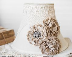 Vintage Tea Dyed Lace and Rose Lampshade   # Pinterest++ for iPad #