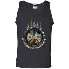 And I Think to Myself What a Wonderful World Peace Earth Forest Black Tank Top Hippie T Shirts, Hippie Outfits, What A Wonderful World, Black Tank Tops, Tank Top Shirt, Flower Children, Wonders Of The World, Types Of Shirts, Tank Man
