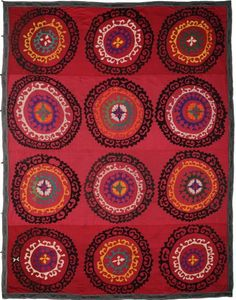 The Rug Company - Suzani textiles. These embroidered hangings or fabric coverings are usually synonymous with Uzbekistan in Central Asia and date from the late 18th and early 19th centuries