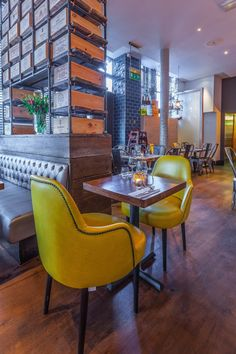 Melange restaurant is a project designed by In Arch in covers an area of 140 sqm and is located in London, UK Arch, Dining Chairs, Restaurant, London, Table, Furniture, Design, Home Decor, Ideas