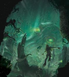 Call of Cthulhu - The Sleeper Below by Ryan Barger Cthulhu Art, Call Of Cthulhu Rpg, Hp Lovecraft, Dark Fantasy, Fantasy Art, Lovecraftian Horror, Eldritch Horror, Fear Of The Unknown, Sea Monsters