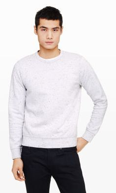Flecked Crew Sweatshirt - Club Monaco Activewear - Club Monaco