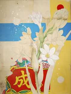 Florals on old poster
