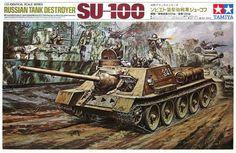 Tamiya Russian Tank SU-100 1/25 Vintage Classic Model Series. No Motor (Remember)