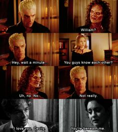 Spike/William and Cecily/Hallie.