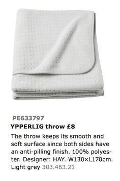 IKEA YPPERLIG Pledd kr. 80,-