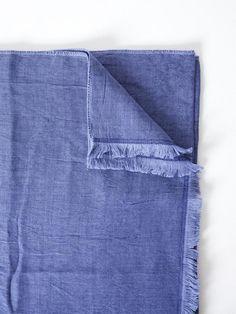 Chambray Gauze Blanket, Navy
