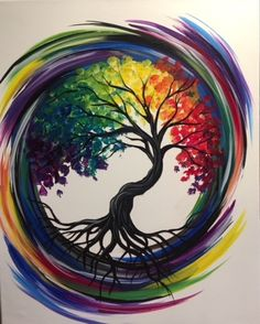 Join us for a Paint Nite event Tue Mar 2018 at 84 Boston Turnpike Shrewsbury. Join us for a Paint Nite event Tue Mar 2018 at 84 Boston Turnpike Shrewsbury, MA. Purchase your Painting Inspiration, Art Inspo, Tree Of Life Painting, Tree Of Life Artwork, Rock Art, Painting & Drawing, Figure Drawing, Watercolor Art, Watercolor Tattoo Tree