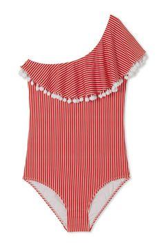8036aa6f66 Stella Cove Pom Pom Stripe Swimsuit #stellacove #girlsswimwear  #girlsbathingsuit #swimwear2018 Stella,