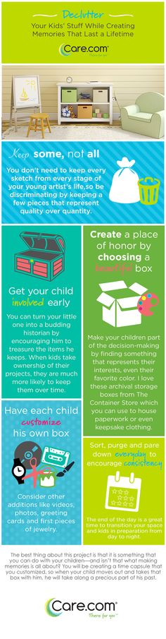 Get kids to help clean, how to clear clutter, what to do with kid artwork