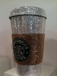 I don't ever drink starbucks but I want this just because its glitter.