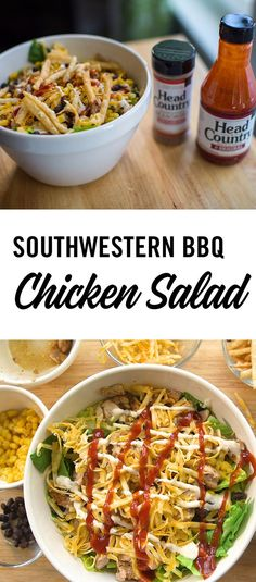 Southwestern BBQ Chicken Salad with Head Country BBQ sauce and seasoning is a great summer salad. Mix up your salad routine with these flavors!