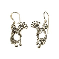 Boucles d'oreilles Navajo Kokopelli argent  | Harpo Paris #bijouxamérindiens